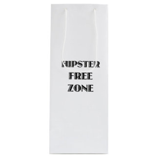 Hipster Free Zone Wine Gift Bag