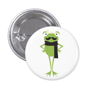 Hipster Frog 3 Cm Round Badge