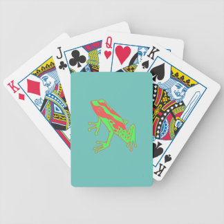 Hipster Frog Bicycle Playing Cards