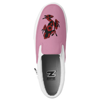 Hipster Frog Slip On Shoes
