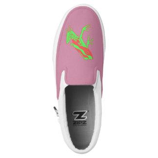 Hipster Frog Slip-On Shoes