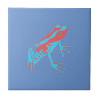 Hipster Frog Small Square Tile