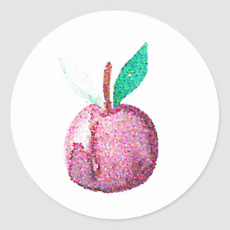 Hipster Fruit Classic Round Sticker