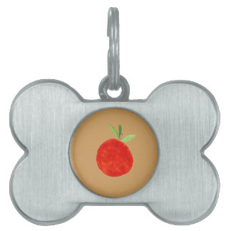 Hipster Fruit Pet Name Tag