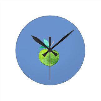 Hipster Fruit Round Clock