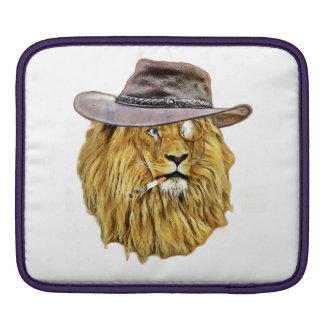 Hipster Funny Lion Cat Sleeves For iPads