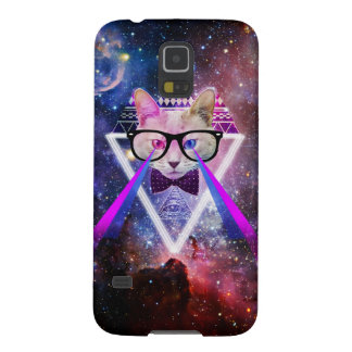 Hipster galaxy cat galaxy s5 cover