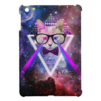 Hipster galaxy cat iPad mini cover