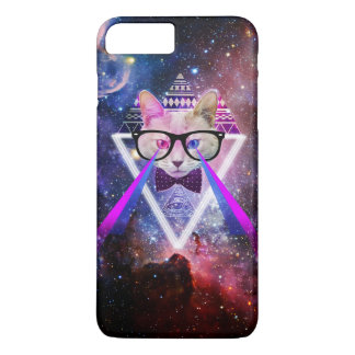 Hipster galaxy cat iPhone 7 plus case