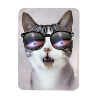 """""""Hipster Galaxy Space Cats"""" 3""""x4"""" Photo Magnet"""