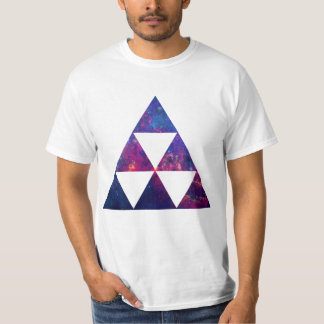 Hipster Galaxy / Space Triangle T-Shirt