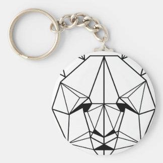Hipster Geometric Panda Key Ring