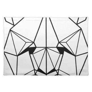Hipster Geometric Panda Placemat