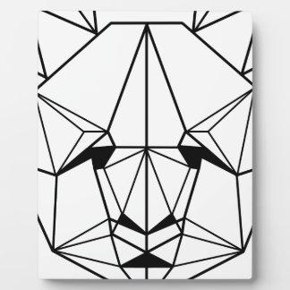 Hipster Geometric Panda Plaque