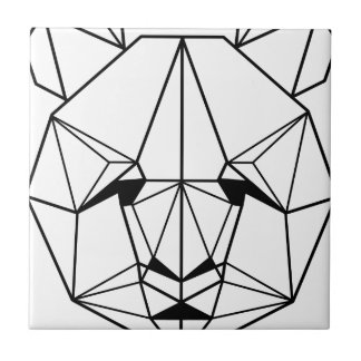 Hipster Geometric Panda Tile