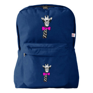 Hipster Giraffe Backpack