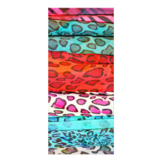 Hipster girly  abstract animal print pattern rack card design