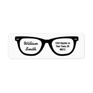 Hipster Glasses Custom Address Label