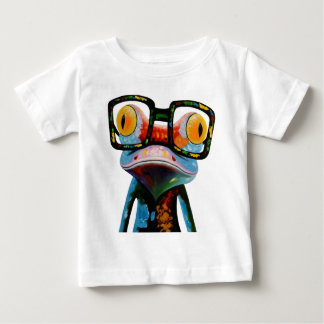 Hipster Glasses Frog Baby T-Shirt