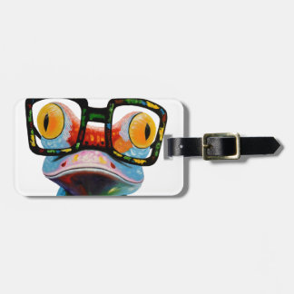 Hipster Glasses Frog Luggage Tag