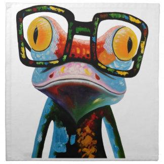 Hipster Glasses Frog Napkin