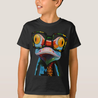 Hipster Glasses Frog T-Shirt