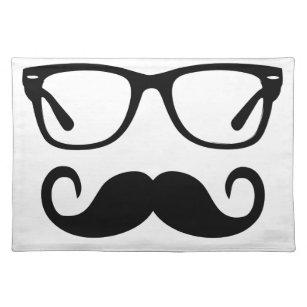 Hipster Glasses & Handlebar Moustache Placemat