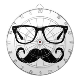 Hipster Glasses & Handlebar Mustache Dartboard