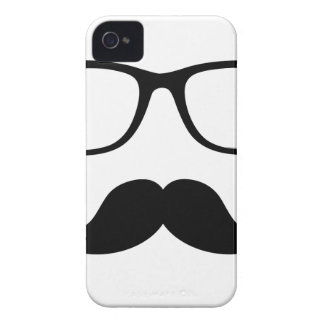 Hipster Glasses & Handlebar Mustache iPhone 4 Cover