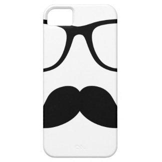 Hipster Glasses & Handlebar Mustache iPhone 5 Case