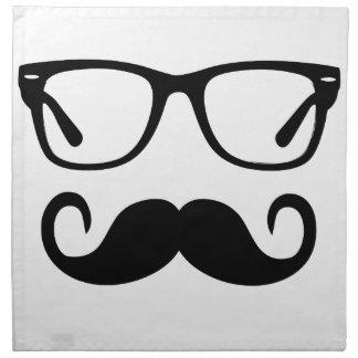 Hipster Glasses & Handlebar Mustache Napkin