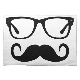 Hipster Glasses & Handlebar Mustache Placemat