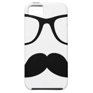 Hipster Glasses & Handlebar Mustache Tough iPhone 5 Case