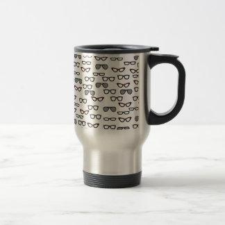 Hipster glasses travel mug