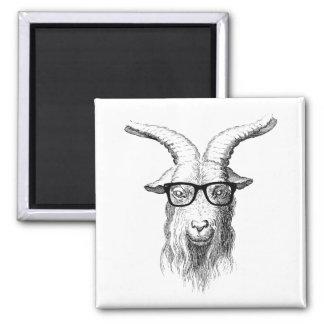 Hipster Goat Square Magnet