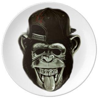 Hipster Gorilla Porcelain Plates