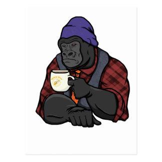 Hipster Gorilla Postcard