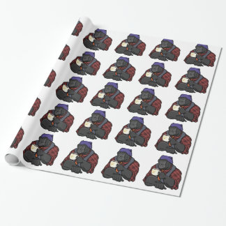 Hipster Gorilla Wrapping Paper