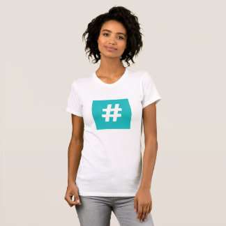 Hipster Hashtag T-Shirt (Blue)