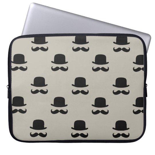 Hipster Hats and Moustaches Laptop Sleeve