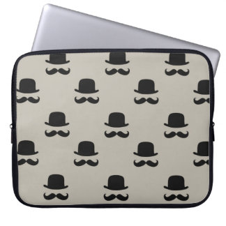 Hipster Hats and Mustaches Laptop Sleeve