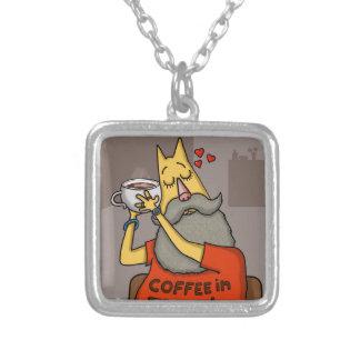 Hipster Hazelnut latte Silver Plated Necklace