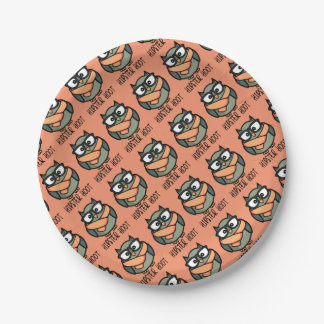 Hipster Hoot 7 Inch Paper Plate