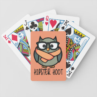 Hipster Hoot Bicycle Playing Cards