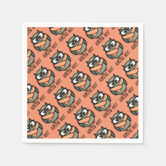 Hipster Hoot Paper Napkins