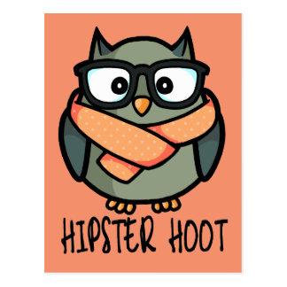 Hipster Hoot Postcard