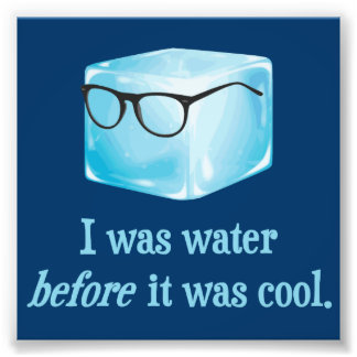 Hipster Ice Cube Was Water Before It Was Cool Photo Print