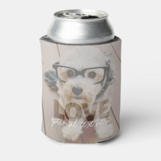 Hipster Instagram Photo Art - Love Color Overlay Can Cooler