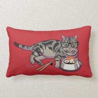 Hipster Kitty Lumbar Pillow