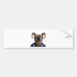 Hipster Koala Bumper Sticker